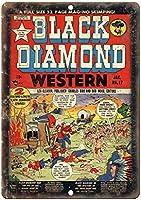 ブラックダイヤモンドウエスタンコミックウォールメタルポスターレトロプラーク警告ブリキサインヴィンテージ鉄絵画装飾オフィスベッドルームリビングルームクラブのための面白いハンギングクラフト