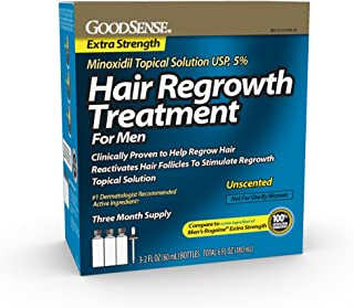GoodSense Minoxidil Topical Solution USP, 5% Hair Regrowth Treatment for Men, 6 Fluid Ounce, for Male Pattern Baldness