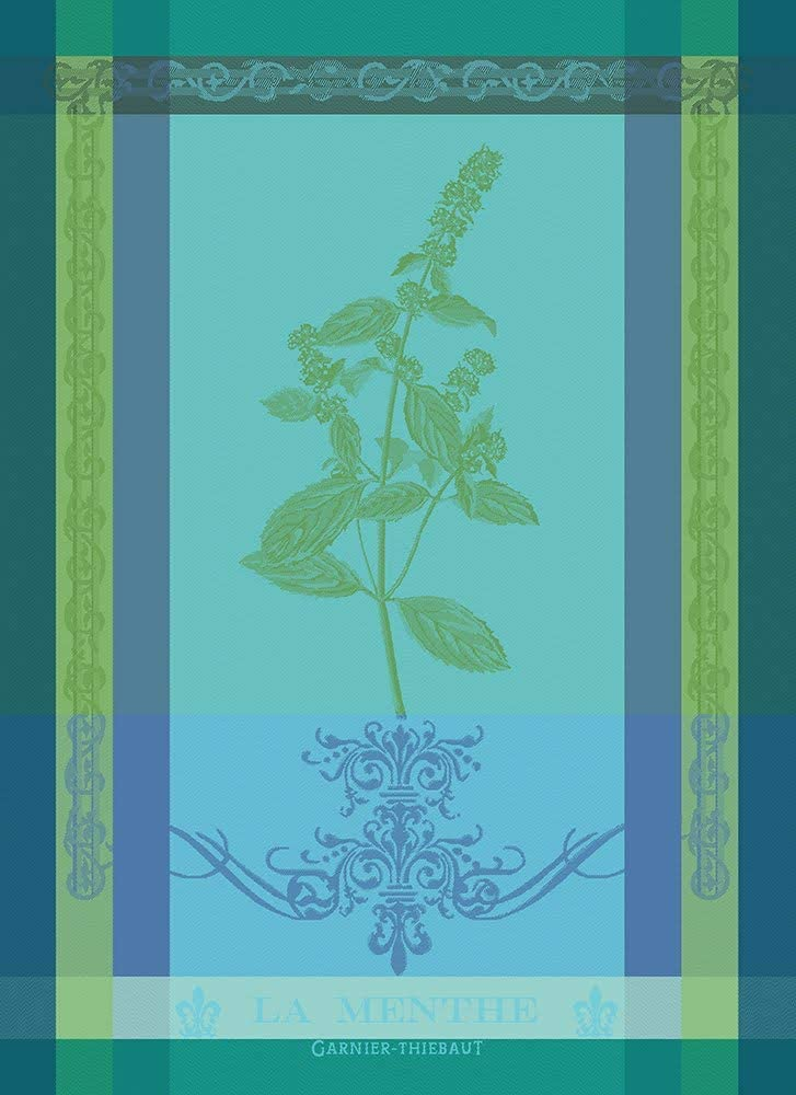 Garnier-Thiebaut Brin de Menthe Some reservation latest Sprig Mint Jacquard of French