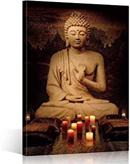 TONZOM 16x24inch Canvas Wall Art Buddha Artwork for bedroom One piece Pictures Ready to Hang wall decorations
