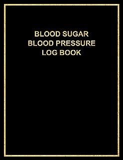 Blood Sugar Blood Pressure Log Book: 52-Week Health Monitoring, Recording Daily Blood Glucose & Blood Pressure Levels ~ Meal Tracker & Gratitude Journal for Men, Minimalist Black Logbook