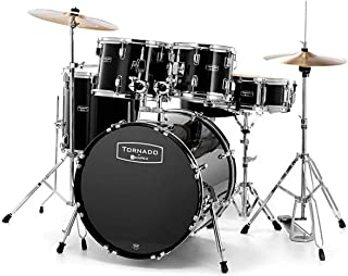 Mapex Tornado Drum Kit with Cymbals & Stool 20 Fusion Black