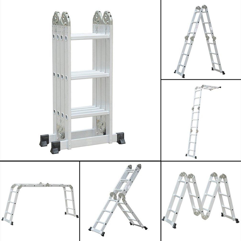3.5M Escalera Multiuso Multifuncional Plegable Aluminio Escalera Telescópica Escalera Alta Multifuncional Portátil, Tamaño Plegado 149x35x28cm: Amazon.es: Bricolaje y herramientas