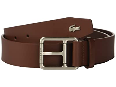 Lacoste Buckle Belt w/ Croc Detailing (Narcissus/Navy Blue/Turkish Delight/Lapwing) Men