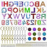 樹脂用アルファベット型、Audab 文字番号樹脂エポキシ製キーホルダー型キット
