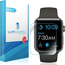 ILLUMI AquaShield Screen Protector Compatible with Apple Watch Series 3 (42mm)(6-Pack)(Full Coverage) No-Bubble High Definition Clear Flexible TPU Film