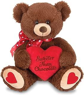 Bearington Beary Sweet Plush Stuffed Animal Teddy Bear with Heart, 12 inches
