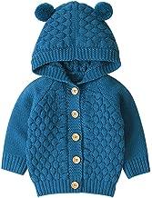 Newborn Sweaters Hooded Cardigan Baby Girl Boy Jacket Warm Coat Knit Outwear