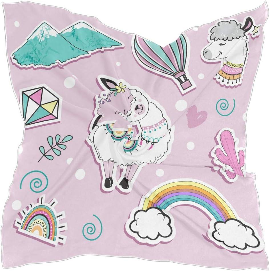 TropicalLife CFAUIRY Square Scarf Unicorn Rainbow Fashion Satin Neck Scarf 23.6