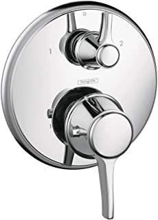 Hansgrohe 15753001 C Thermostatic Valve Trim with Volume Controls, Small, Chrome