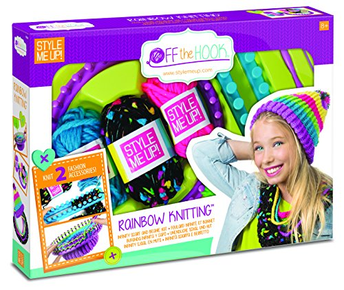 Style Me Up - Kids Scarf and Beanie Knitting Kit - DIY Crafts for Girls - Crochet Kit for Kids - SMU-808