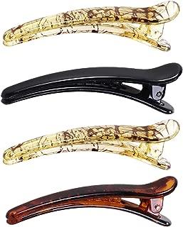 Lurrose 4pcs Duckbill Hair Clips Plastic Crocodile Teeth Knots Barrette for Women Girls Hairdresser
