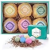 Aprilis Bath Bombs Gift Set, Organic & Natural Essential Oil Bath...