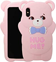 Case for iPhone XR 6.1 inch,Phenix-Color 3D Cute Cartoon Soft Silicone Hello Kitty Bear Love Bear Gel Back Cover Case for iPhone XR 6.1 inch (#83)