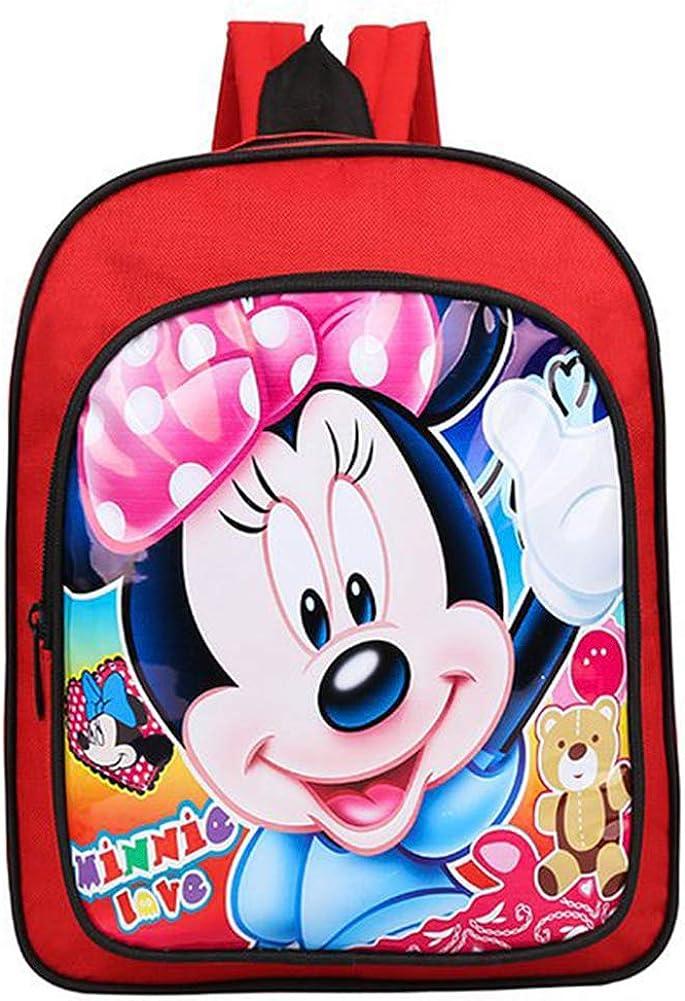 BAIBEI Minnie Mochila para niños, Material Escolar para Niños, Mochila Infantil Colegio o Guarderia, Regalos para Niños Niñas (31*25*9cm)