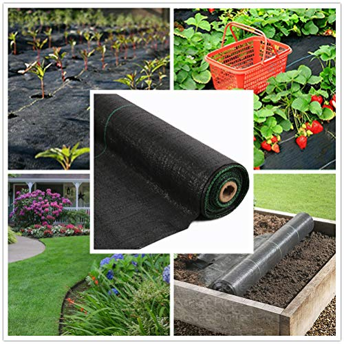 Landscape Fabric Weed Barrier 3FT X 250FT Heavy Duty & Good Permeability Woven Weed Blocker,Easy Setup Weed Control Mat Weather Proof Ground Cover 125g/sm