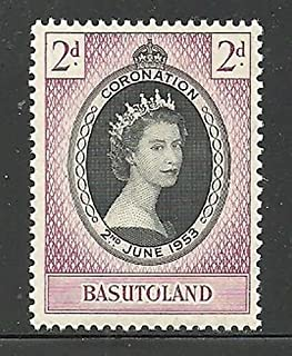 Basutoland Scott #45 - Single Stamp - Queen Elizabeth II Coronation Issue, British Commonwealth Common Design - From 1953 - Collectible Postage Stamps