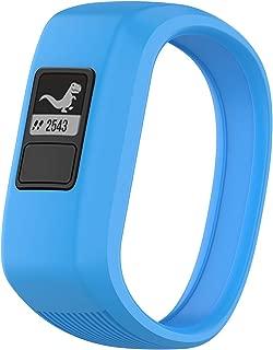 TERSELY Band Strap for Garmin Vivofit JR 3 Junior 2, Soft Silicone Rubber Wrist Strap Watch Band Bracelet for VIVOFIT 3 JR Junior 2 1 Kids Fitness Tracker - Blue