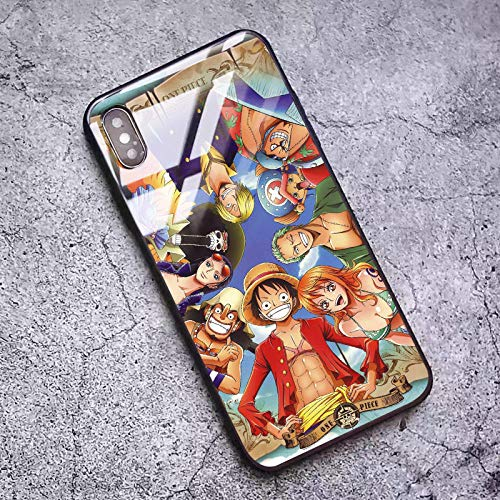 Japón Anime One Piece Funda telefónica para iPhone 8 7 Plus X XS MAX XR 12 11 Pro MAX Case Dibujos Animados One Piece Zoro Luffy Soft Silicon Back Cover-Photo_Color_12_Mini