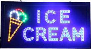 CHENXI Ice cream shop Led sign hot sale 48 X 25 CM indoor Ultra Bright flashing neon open sign of led (48 X 25 CM, B)
