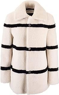 SAINT LAURENT Luxury Fashion Womens 572852Y7UW29411 White Coat | Fall Winter 19