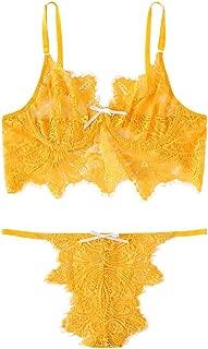 Fashion Women's Sexy Lace Bra and Panty Set Underwire Push Up Soft Lingerie Set S-XL