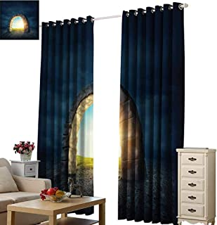 Warm Family Fairy Windshield Curtain Mysterious Threshold Design Contrasting Places Inspirational Illustration Entrance 70%-80% Light Shading, 2 Panels,W72 x L108 Multicolor