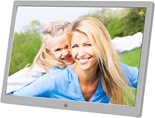 Digital Photo Frame, Metal,15.4 Inch Widescreen 1280 * 800 High Resolution Full HD LCD Color Display, MP3 / MP4 Player wit...