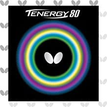 Butterfly Tenergy 80 Table Tennis Rubber Table Tennis Rubber | 1.7 mm, 1.9 mm, or 2.1 mm | Red or Black | 1 Inverted Table...