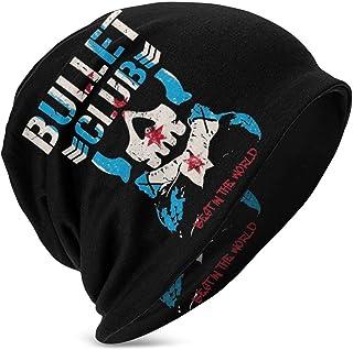 Hdadwy Beanie Hat Best in The World Bullet Club Logo Gorro de Punto con puños y Calavera Fina para niños y niñas, Color Negro