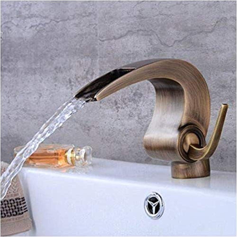 Retro Wasserhahn Küchenarmatur Wasserhhne Antikes Badezimmer Wasserfall Wasserhahn Kran Bad Becken Wasserhahn