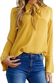competitive price f4deb 4598b Amazon.it: camicia donna elegante - Giallo / Bluse e camicie ...