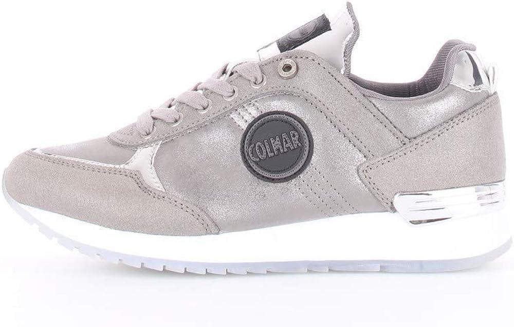 colmar,  sneakers casual da donna,in camoscio e tessuto metallizzato 8053102_36