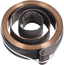 Sourcingmap - Muelle de prensa de taladro, bobina de retorno de alimentación de pluma, conjunto de resorte, 6 pies de largo, 63 x 19 x 0,7 mm