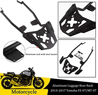 Psler Top Luggage Rack Rear Carrier Luggage Rack Fender Support for Yamaha MT-09 FZ-09 2017-2018