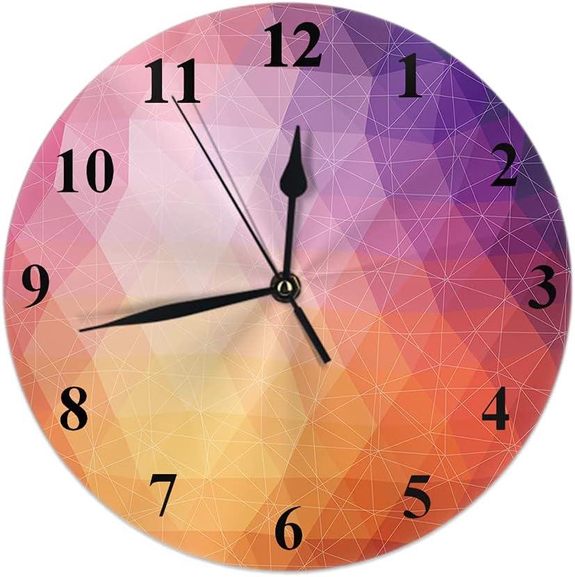 Cheap bargain Wondertify Geometric Triangle Ranking TOP15 Shapes Colorful-Mosaic Wall Clock