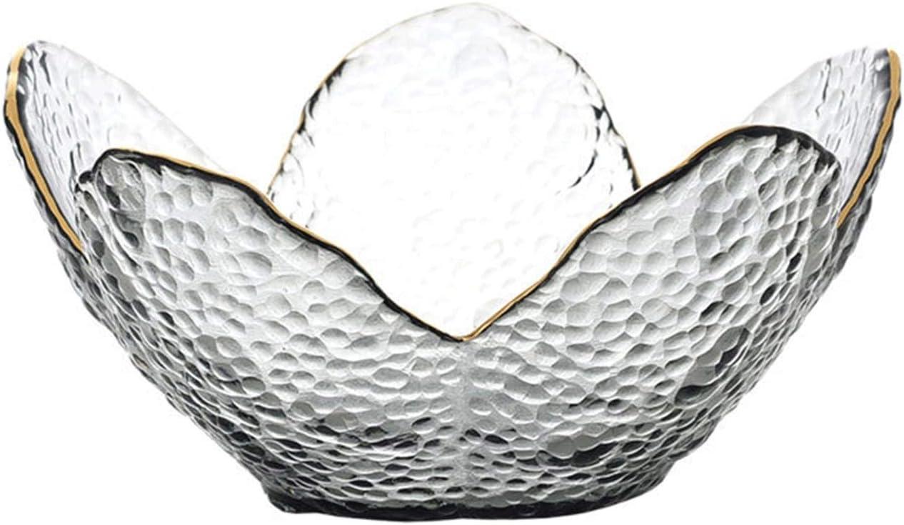 Frutero Decoración del hogar Dorado incrustaciones de frutas secas Decorativo Cristal de cristal Fruta de fruta Postre cuenco Ensalada Bocadille Cestas para Frutas ( Color : 1 PC MEDIUM SIZE )