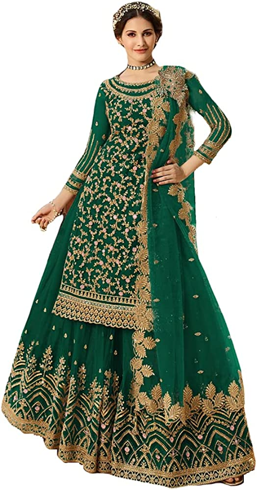 Ready to Wear Women's Indian Pakistani Style Party Wear Embroidered Designer Lehenga Suit Salwar Suit With Matching Dupatta
