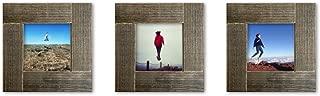 Tiny Mighty Frames 3-set, Distressed Wood, Square Instagram Photo Frame, 4x4 (3.5x3.5 window) (3)
