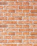 Papel mural con efecto muro de ladrillos EDEM 583-23 con imitación piedra stones y diseño rústico en marrón naranja