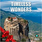 Timeless Wonders - 2021 Hangable Wall Calendars by Red Ember Press - 12' x 24' When Open - Thick & Sturdy Glossy Paper - Explore Great Civilizations