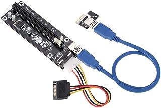 kkmoon USB 3.0PCI-E PCI Express 1X a 16X extensor tarjeta Riser Card Adaptador con cable de alimentación SATA y cable USB