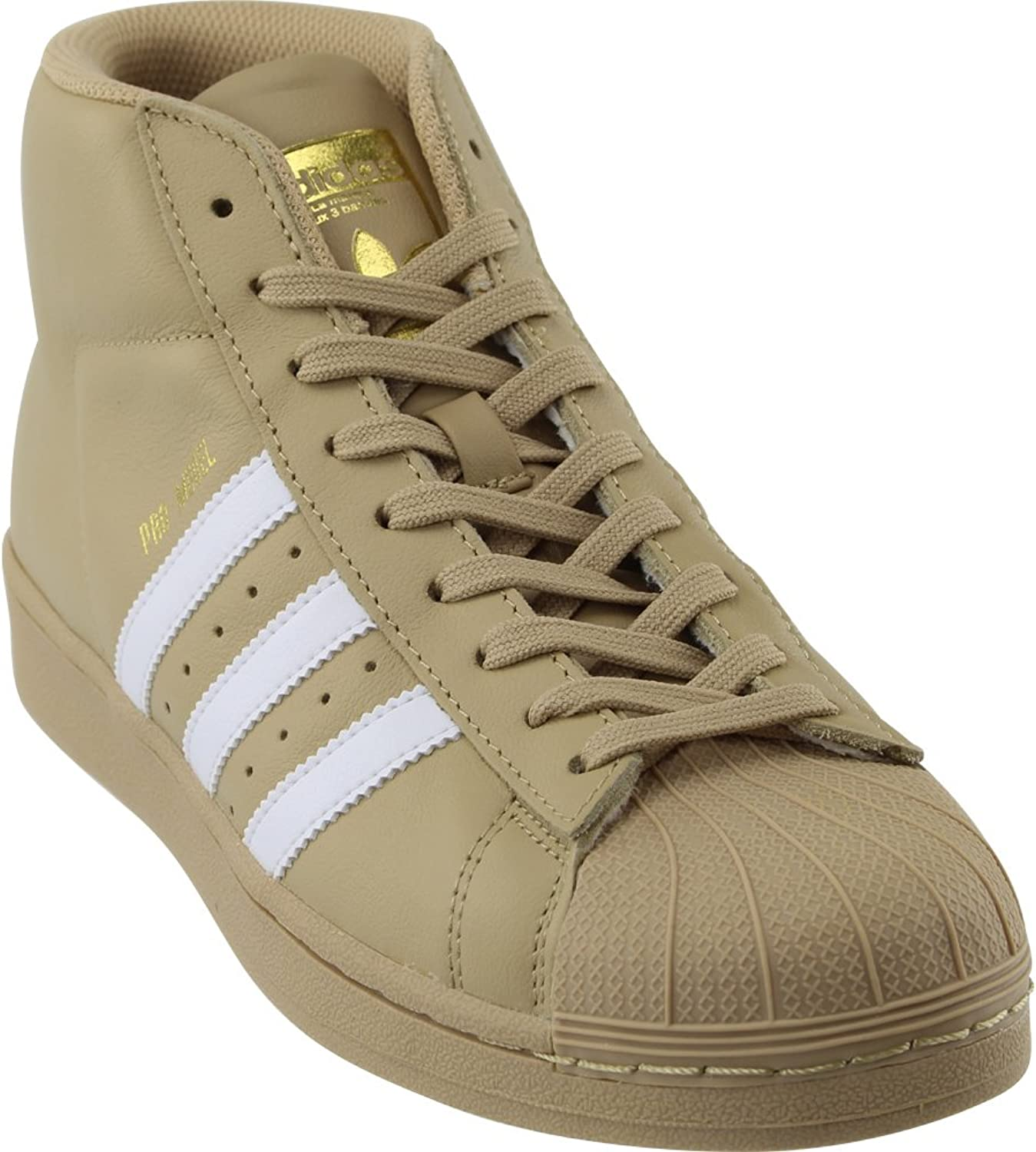 Adidas Pro Model Men's shoes Khaki White Metallic gold cg5072 (9 D(M) US)