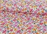 Qualitativ hochwertiger Sommersweat, bunte Blumen als