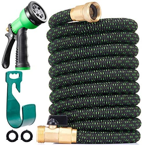 150 ft Expandable Garden Hose All New 2020 Retractable Water Hose with 3 4 Solid Brass Fittings product image