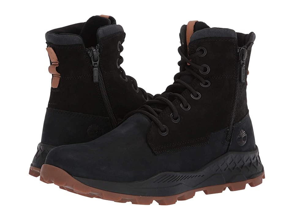 Timberland Brooklyn Side Zip Boot (Black Nubuck) Men