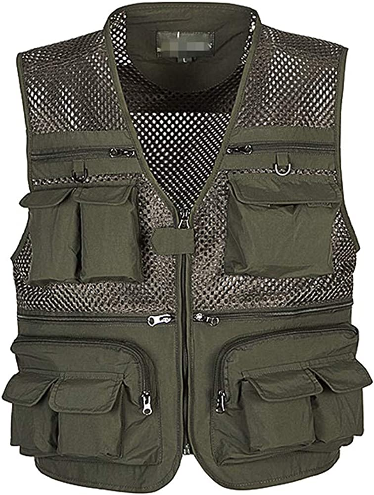 XFentech Men New products world's highest quality popular Sport Free shipping anywhere in the nation Vest - Waistcoat Multi-pocket