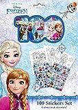 Set de 100 Stickers Autocollant et 12 Coloriage Frozen Disney - Enfant Cadeau Reine des Neiges - 478