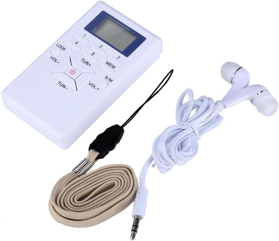 Bewinner Mini Radio FM Portable Sensibilit/é /Élev/ée Et Excellente R/éception Canaux Mono Et St/ér/éo Int/égr/és pour La S/&e R/écepteur De Traitement du Signal Num/érique avec /Écouteurs