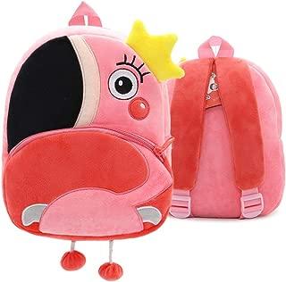 Suekoop Kids Backpack Cute 3D Animal Cartoon Toddler Backpacks Gift for Children 1-5 Y (Plink Flamingo)